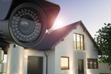 CCTV Camera or surveilance Operating in condominium with fish eye perspective